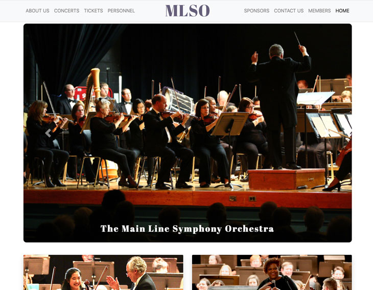 Main Line Symphony Orchestra Website